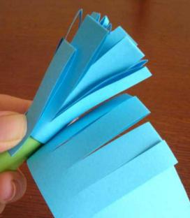 Гиацинт из цветной бумаги