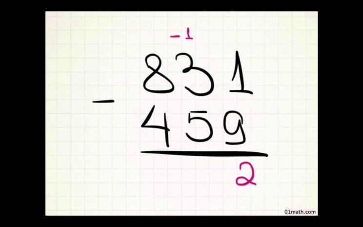 вычитание двух чисел